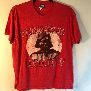 STAR WARS Who's Your Daddy? Red Tee
